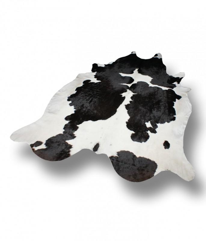 Pin peaux de vache noir et blanche moderne on pinterest - Tapis peau de vache noir et blanc ...
