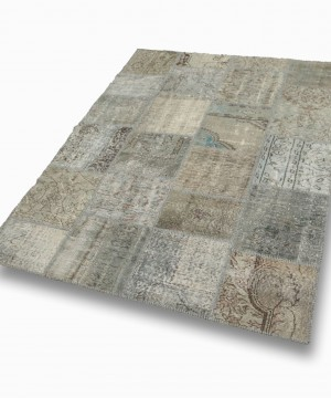 Tapis patchwork Light grey