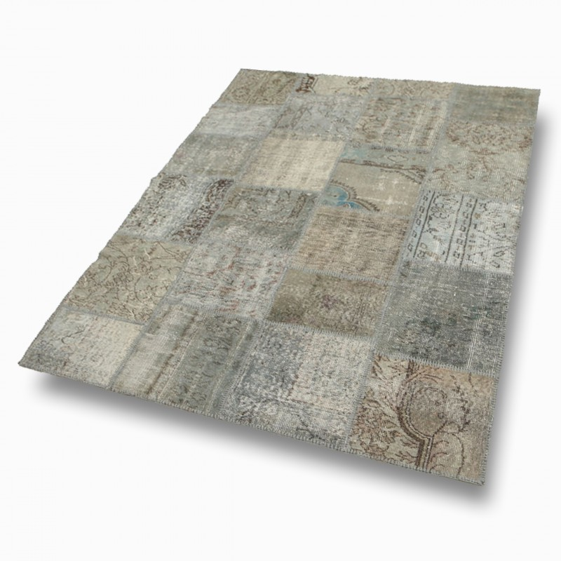 tapis patchwork light grey chaix d coration. Black Bedroom Furniture Sets. Home Design Ideas